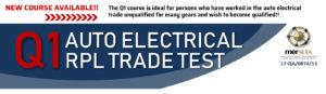 Q1 RPL Auto Electrician Course